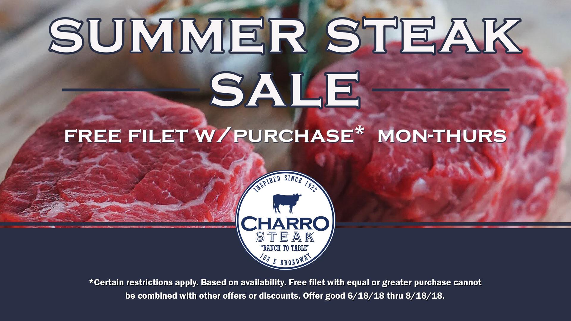Summer Steak Sale 2018