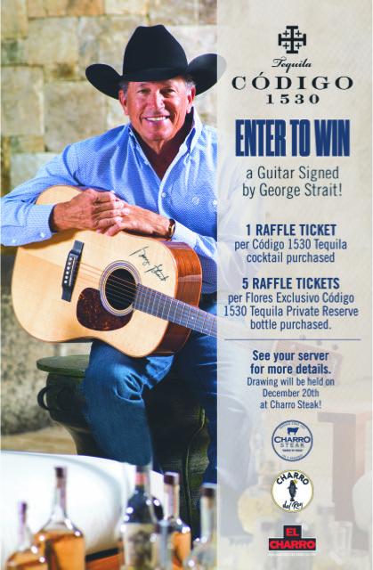 Win A Guitar Signed By George Strait @ Charro Steak