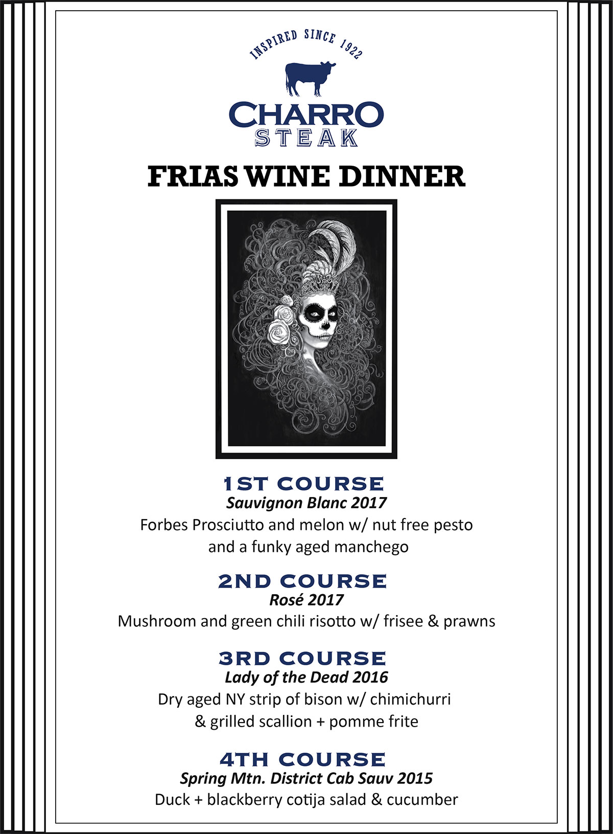 Frias Vineyard Wine Dinner @ Charro Steak